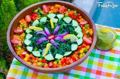 Kale Salad with Lemon Avocado Dressing!