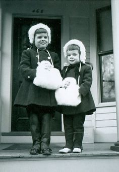 +~+~ Vintage Photograph ~+~+  Sisters and their doll muffs