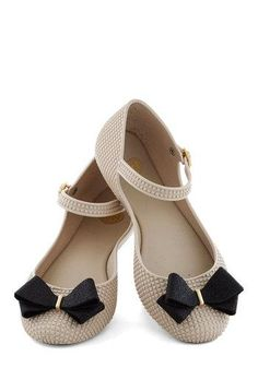 Likes: Flats with ankle support and bow detail -- nice colors for matching with different outfits