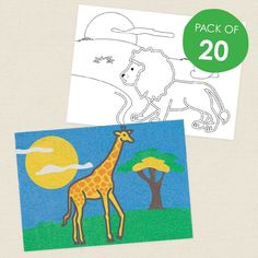 Safari Animals Sand Art Sheets - CleverPatch