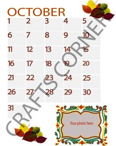 Octombrie Calendar, Dots, Memories, Stitches, Memoirs, Souvenirs, Life Planner, Remember This
