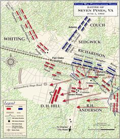 The Battle of Seven Pines - June 1, 1862