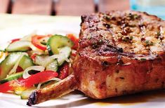 Nagano Pork Chops with Ponzu Sauce – Meat Foods Pork Chop Recipes, Meat Recipes, Dinner Recipes, Barbeque Sauce, Barbecue Recipes, Nagano, Bbq Corn, Ribs On Grill, Pork Chops