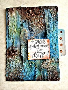 My Scrap Therapy - The art of Tattered Tangles combined with these beautiful mixed media techniques is the perfect combination for these 4x6 file folders that are perfect for photos, recipe cards, note cards or just to store you favorite notes.