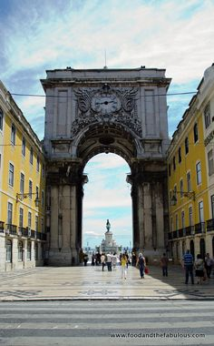 Portuguese Alheira, Lardons and Asparagus Pasta... And things I miss about Lisbon | by Ishay Govender-Ypma, Food and the Fabulous 18.07.2012 | Photo: Praça Do Comercio image #Portugal