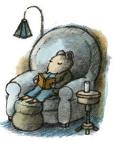 """Books to the ceiling, Books to the sky, My pile of books is a mile high. I'll have a long beard by the time I read them."""" ― Arnold Lobel (Picture from Mouse Soup, Arnold Lobel) Arnold Lobel, Children's Book Illustration, Book Illustrations, I Love Books, Book Characters, Book Making, Character Concept, Cute Art, Book Worms"""