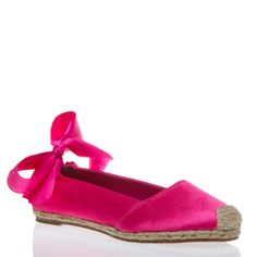 With its delicate features and romantic lace-up bows, Tickle is the ultra-feminine espadrille flat.
