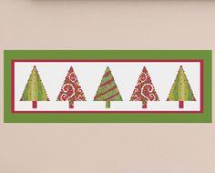 Cross Stitch Pattern, Modern Cross Stitch Pattern, Christmas Cross Stitch, Holiday Cross Stitch, Xmas Cross Stitch - PDF