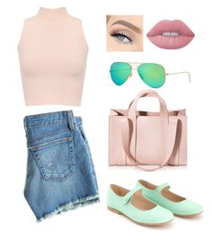 """Mary Janes Style"" by lukeisalibero ❤ liked on Polyvore featuring AG Adriano Goldschmied, WearAll, Corto Moltedo, Ray-Ban and Lime Crime"