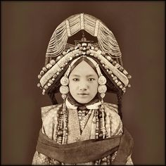 Tibetan Lhacham, Tibet [c1879] Sarat Chandra Das [RESTORED] by ralphrepo, via Flickr