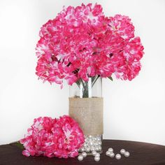 56 Chrysanthemum Mum Balls - Fushia | Have limited budget for real Mum Bush? Our beautiful mum bush selection is your ideal choice to create the cheerful atmosphere. The vibrant color makes the silk mum bush the wonderful piece to go with any types of celebration. This gorgeous flower is care free and will be the decor essence to add a touch in your wedding decoration. Assorted colors available.