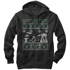 Star Wars Hoth Sweet Hoth Ugly Christmas Sweater Mens Graphic Lightweight Hoodie *** Click image for more details.