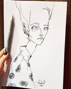 Unique way to describe a person, similar to Egon Schiele Illustration Mode, Illustrations, Sketchbook Inspiration, Art Sketchbook, Art Sketches, Art Drawings, Art Hoe, Pretty Art, Art Inspo
