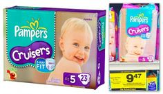 Pampers Diapers are as low as $0.11 per diaper at Rite Aid!