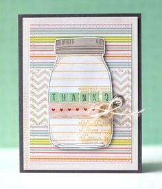 Thank Q - by Amy Heller using the Dear Lizzy Neapolitan collection from American Crafts