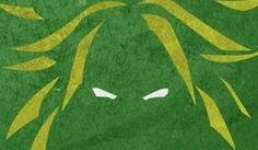 Ojos Cabello Green Acercamiento