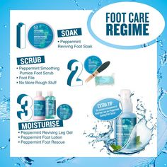 Get happy and fresh feet with our refreshing Peppermint foot care range. Check i. - Get happy and fresh feet with our refreshing Peppermint foot care range. Check it out The Body Shop - The Body Shop, Body Shop At Home, Body Shop Christmas, Homemade Foot Soaks, Body Shop Skincare, Pedicure At Home, Foot File, Get Happy, Feet Care