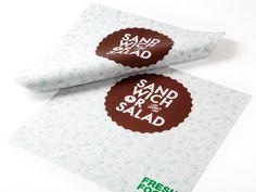 Sandwich or Salad by Masif , via Behance