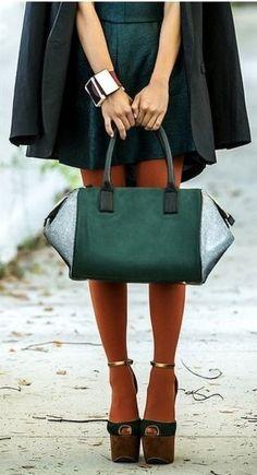 Emerald bag ia Zoe Alexander UK - saved by Chic n Cheap Living
