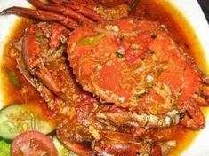 Kepiting saus padang (Padangnese crab sauce, Kuliner Indonesia try Crab Recipes, Rice Recipes, Asian Recipes, Cooking Recipes, Ethnic Recipes, Asian Foods, Recipies, Indonesian Cuisine, Indonesian Recipes
