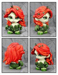Poison Ivy custom Munny figure by FlyingSciurus.deviantart.com on @DeviantArt