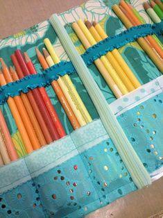 Homemade Colored Pencil Case Inside 2 - Gwen Lafleur