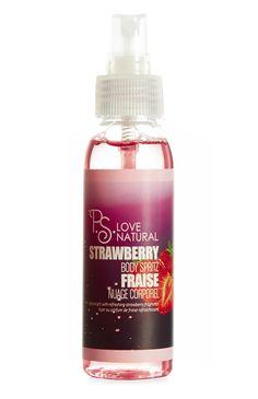 Nuage corporel naturel fraise