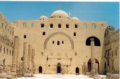 White Monastery The White Monastery is a Coptic Orthodox monastery named after Saint Shenouda the Archimandrite. It is located near the Upper Egyptian city of Sohag, and about four kilometers south. Egyptian, Abandoned, Taj Mahal, City, Building, Travel, Book, Left Out, Viajes