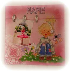 ___________◦•๑。°`·. ♡ .·´°。๑•◦___________  Acryl auf Leinwand mit Platz für Foto - kann auf Wunsch personalisiert werden.  30x30 cm  Preis:  € 35,-- Frame, Home Decor, Pictures, Girl Pics, Wish, Canvas, Homemade Home Decor, A Frame, Frames