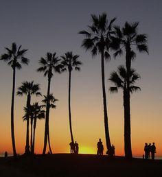 Watching the sunset (Venice Beach, Calif. 2001) - Photo by Tiffannie Bond