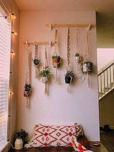DIY Macrame Plant Wall A garden is far more than an outdoor area with flower . - DIY Macrame Plant Wall A garden is far more than an outdoor area with flower beds, lawns and Pat - Diy Wand, Plant Wall Diy, Plant Decor, Hanging Plant Wall, Hang Plants On Wall, Home Decor With Plants, Nature Home Decor, Diy Plant Stand, Diy Hanging