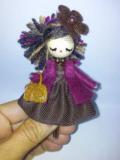 Brooch jewelry doll by Delafelicidad on Etsy