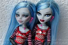 Commission - MH Ghoulia repaint - comparison by *prettyinplastic on deviantART