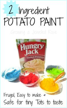 Easy to make, 2 ingredient paint - safe for tiny tots- FUN for kids of all ages! (adults included)