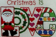 Christmas is Love Crewel Embroidery Kit Jiffy Vintage New Old Stock #JiffyStitchery