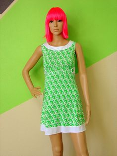 SANTA MONICA DREAM Vintage Gogo Dress by VintageBeats on Etsy, $36.00
