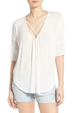 Lush Cross Front White Top // Made in USA
