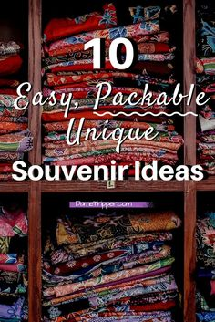 Souvenirs do not need to be boring and difficult to pack. You can get creative with your travel memories and souvenirs. These are some great ways to remember your trips without taking up extra space in your suitcase!