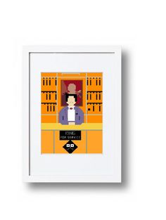 Concierge Grand Budapest Hotel Cross Stitch by peaceandstitches #crossstitch #pattern #cross #stitch #mendls #grand #Budapest #hotel #wesanderson #wes #anderson #peaceandstitches #Jason #schwartzman