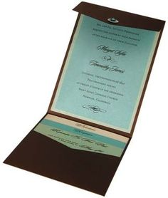 tri fold wedding invitations diy - Google Search