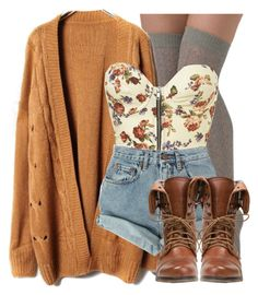 """""""Untitled #196"""" by annellie ❤ liked on Polyvore featuring tabbisocks, Levi's and Steve Madden"""