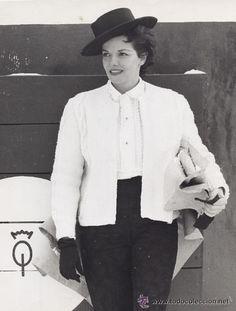 RAMON MASATS, LA ACTRIZ JANE RUSSELL EN SU VISITA A ESPAÑA. 1961 TIRAJE DE EPOCA, VINTAGE. - Foto 1