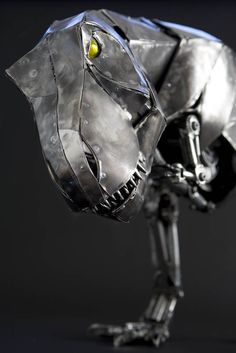 Sculpture of Tyrannosaurus Rex, artist Andrew Chase