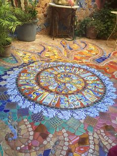 Super danke great thank you 22 Great way for your front yard 01 Mosaic Walkway, Pebble Mosaic, Mosaic Art, Backyard Patio Designs, Backyard Landscaping, Path Design, Glass Garden Art, Landscaping With Rocks, Garden Inspiration