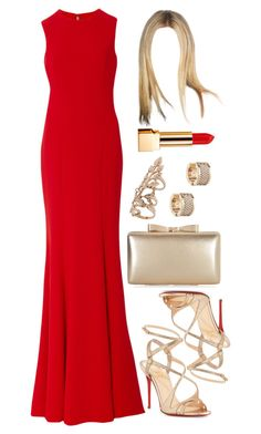 """Untitled #4547"" by natalyasidunova ❤ liked on Polyvore featuring Romona Keveža, Christian Louboutin, Accessorize, Miss Selfridge, Michael Kors and Yves Saint Laurent"