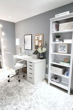 Tony and Abby's Boston Work Space Reveal! Room Design Bedroom, Small Room Bedroom, Room Ideas Bedroom, Home Room Design, Home Office Design, Small Rooms, Couple Bedroom, Office In Bedroom Ideas, Ikea Room Ideas