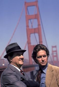 The Streets of San Francisco.Created by Edward Hume. With Karl Malden, Michael Douglas, Reuben Collins, Richard Hatch. A veteran cop with more than 20 years of experience is teamed with a young Inspector to solve crimes in San Francisco. Movies And Series, Tv Series, Tv Vintage, Karl Malden, Tv Star, Image Film, Old Shows, Great Tv Shows, My Childhood Memories