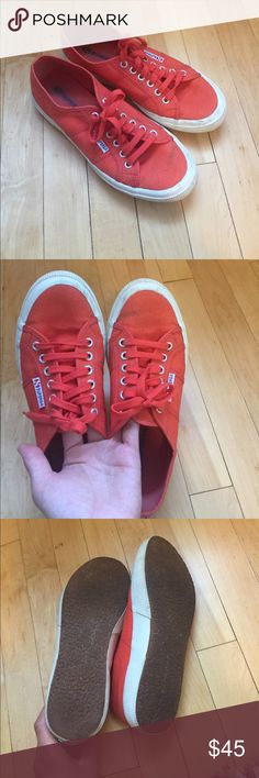 Superga shoes Women's dark orange superga shoes, purchased off Poshmark, I just don't need them! Very cute for fall! Superga Shoes Sneakers