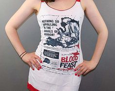 Blood Feast Lace Horror Movie Tank Top Dress Tunic