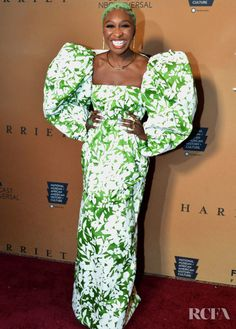 Cynthia Erivo Matches Her Hair To Her Rosie Assoulin Dress For The 'Harriet' Washington DC Premiere - Red Carpet Fashion Awards African American Museum, African American Culture, American History, Celebrity Outfits, Celebrity Style, Cynthia Erivo, Celebrity Red Carpet, Night Looks, Red Carpet Looks